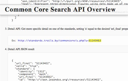 standardstrailsby an open commoncore search api